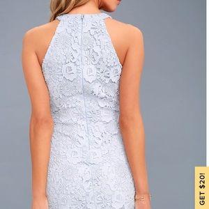 Lulu's Dresses - 💙Love Poem Light Blue Lace Dress